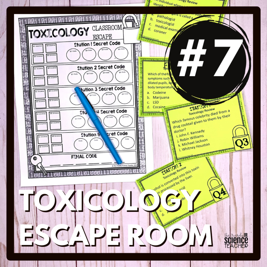 Toxicology Forensics Escape Room