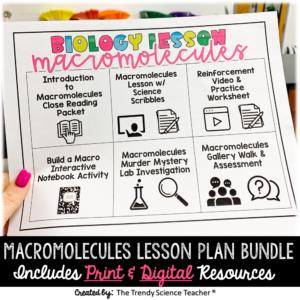 macromolecules lesson plan